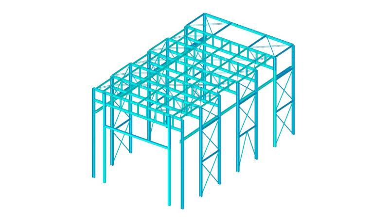 Struttura metallica per cabina di verniciatura