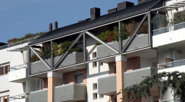 Edificio presso il parco Moretti in via Podgora a Udine