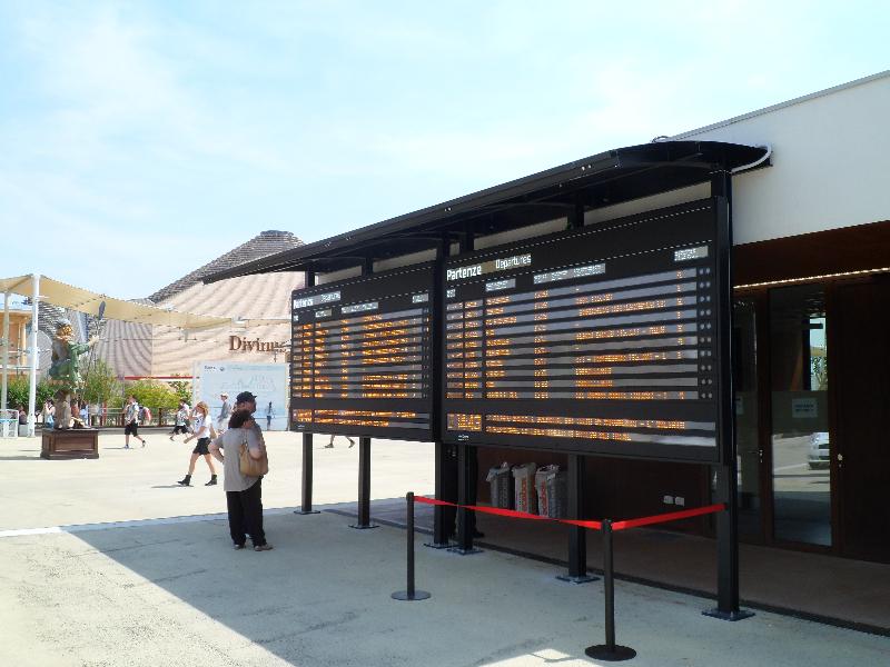 Tabellone Solari a EXPO 2015