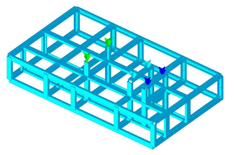 Telaio metallico per support motore e alternatore
